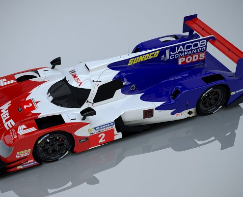 Rick Ware Racing number 2 Livery Design